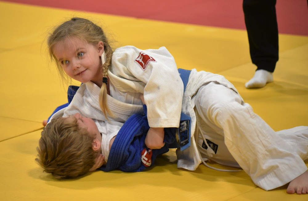 children doing judo